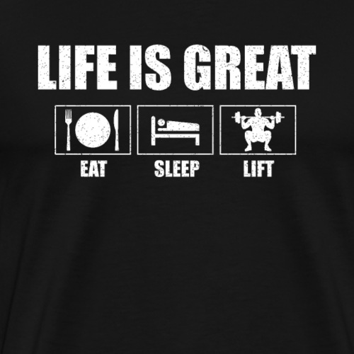 Life is great - Männer Premium T-Shirt