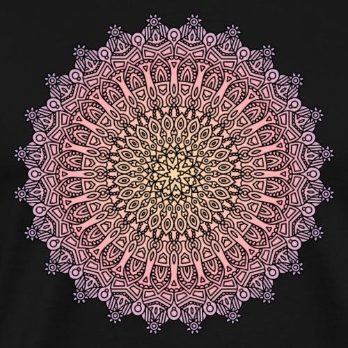 Mandala Sonnenuntergang - Männer Premium T-Shirt