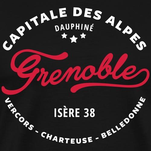 grenoble capitale des alpes - T-shirt Premium Homme