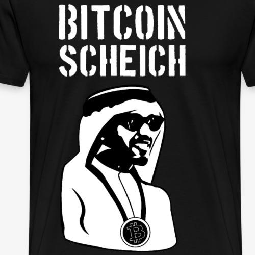 Bitcoin Scheich - Männer Premium T-Shirt