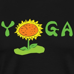 Yoga With Flower - Men's Premium T-Shirt