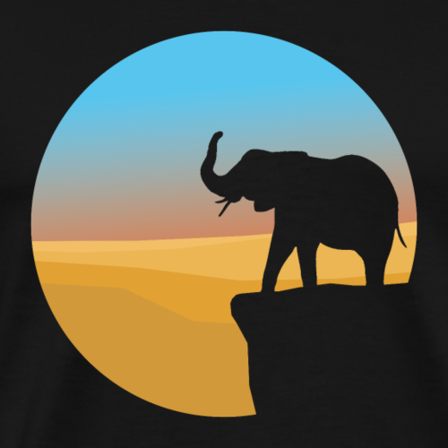 Sunset Elephant - Men's Premium T-Shirt