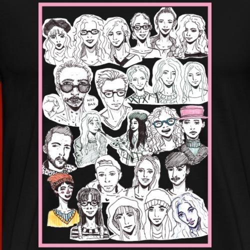 backprint - Männer Premium T-Shirt