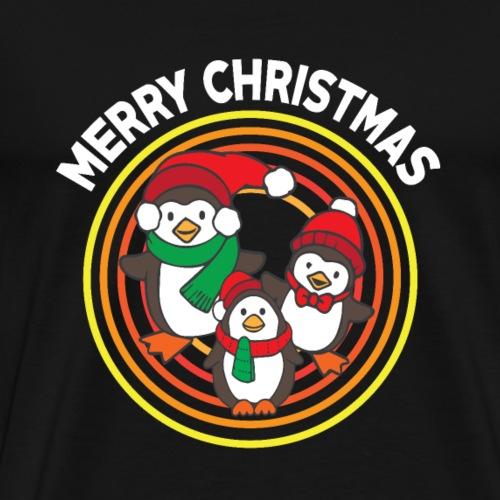 Pinguin - Muetze - Geschenk - Frohe Weihnachten - Männer Premium T-Shirt
