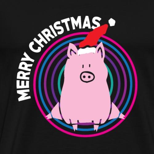 Schwein - Muetze - Geschenk - Merry Christmas - Männer Premium T-Shirt