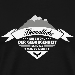 Heimatliebe! Home! Patriot! - Premium-T-shirt herr