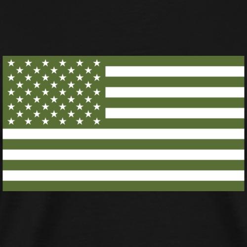 Olive Green US Flag - Men's Premium T-Shirt