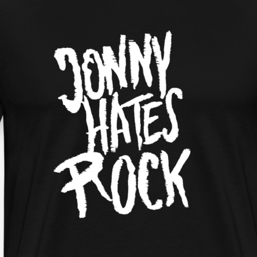 Jonny hates Rock Logo Weiss - Männer Premium T-Shirt