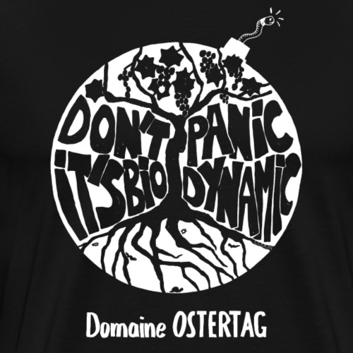 Don't panic BLANC - T-shirt Premium Homme