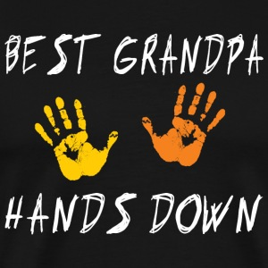 Best Grandpa Hands Down - Premium T-skjorte for menn
