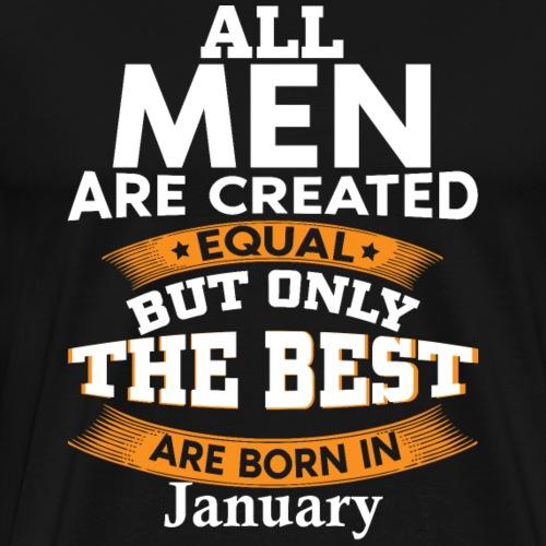 Geboren im Januar Geburtstag Geburtsjahr Geschenk - Männer Premium T-Shirt