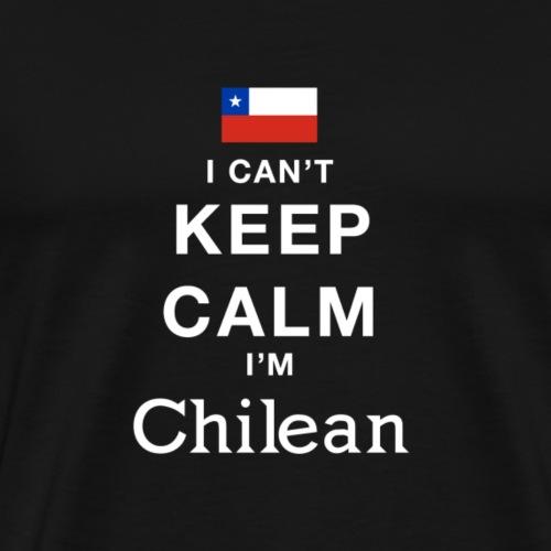 Flagge Chilean Bleiben Ruhig Geschenk Einfach - Männer Premium T-Shirt