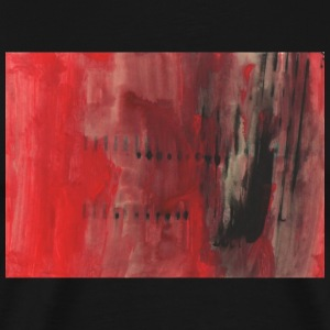 red and black abstract - Men's Premium T-Shirt
