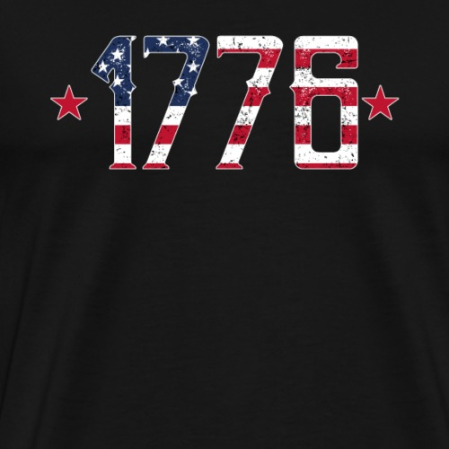 1776 Forth July American Pride Patriot - Männer Premium T-Shirt