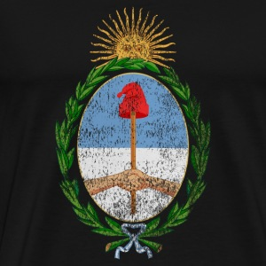 Argentinian Coat of Arms Argentina Symbol - Men's Premium T-Shirt