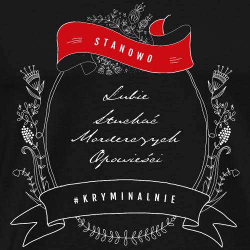 KRYMINALNIE PORTRETOWO - motyw jasny - Koszulka męska Premium
