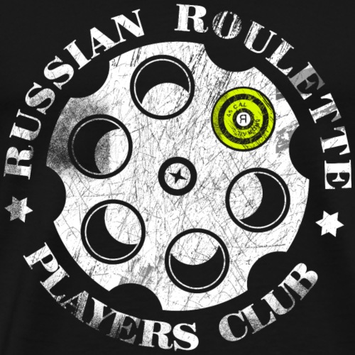 Russian Roulette Players Club - Men's Premium T-Shirt