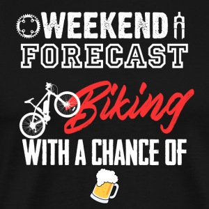 Weekend Forecast Biking with a chance of beer - Men's Premium T-Shirt