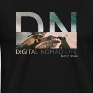 "Digital Nomad ""Iguana"" ~ Black Edition - Men's Premium T-Shirt"
