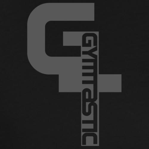 GT - Gymtastic - vertikal - grau - Brust rechts - Männer Premium T-Shirt