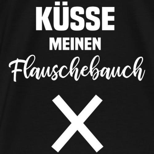 lustiges Geschenk Shirt Bauch Küssen - Männer Premium T-Shirt