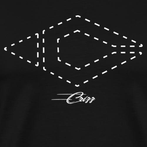 Crizz logo striped white - Mannen Premium T-shirt