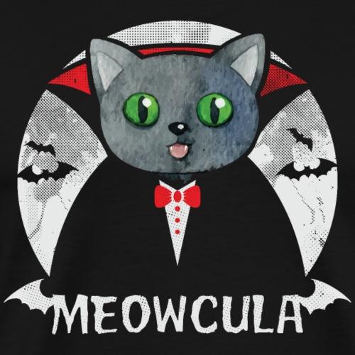 Meowcula - Funny Cat Vampire Dracula - Halloween - Männer Premium T-Shirt