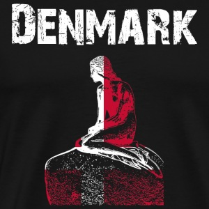 Nation design Danmark - Herre premium T-shirt