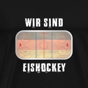 Silber-Medaille - Wir sind Eishockey! - Männer Premium T-Shirt