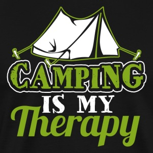 Camping is my Therapy - Men's Premium T-Shirt