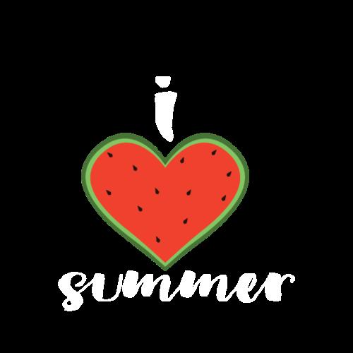 Ich liebe Sommer | Melone Herz Sonne - Männer Premium T-Shirt