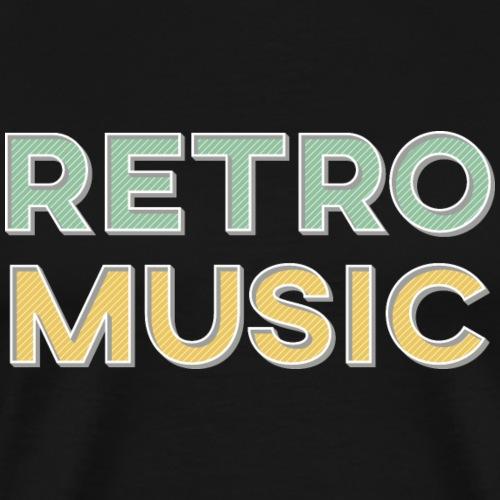 Retro Music - Retro Style - Männer Premium T-Shirt