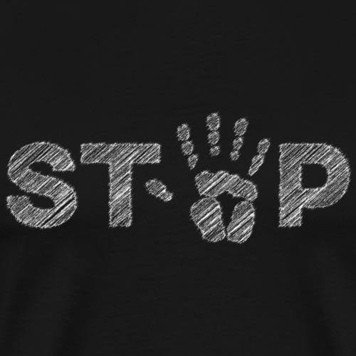 STOP - Sketch & Scribble Stop - Männer Premium T-Shirt