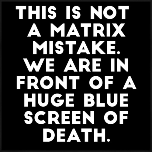 Blue screen of Death - Mannen Premium T-shirt