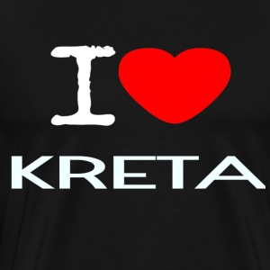 I LOVE KRETA - Premium T-skjorte for menn