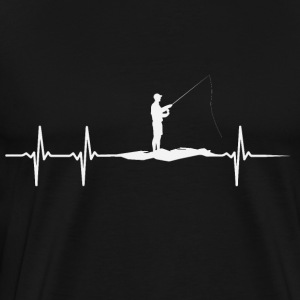 Heartbeat of Anglers - T-shirt Premium Homme