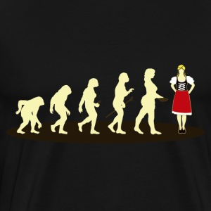 dirndl EVOLUTION - Herre premium T-shirt