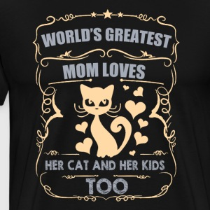 Monde plus grand maman aime son chat / enfants - T-shirt Premium Homme