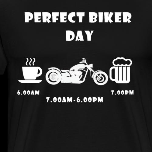 Perfect biker day chopper white - Männer Premium T-Shirt