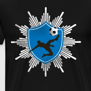Football coat of arms ball goal shooting club team mostly - Men's Premium T-Shirt