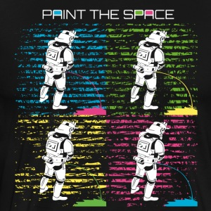 Troop Art - PAINT THE SPACE - Stormtrooper Party - Men's Premium T-Shirt