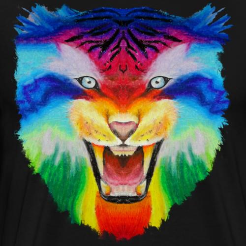 Der Regenbogen Tiger - Männer Premium T-Shirt