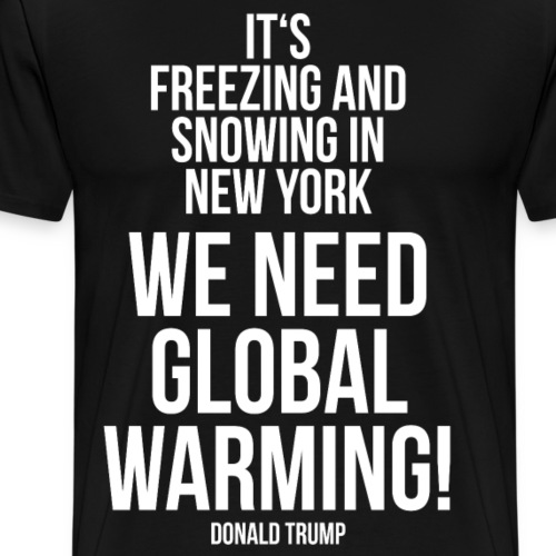 Domald Trump Sitat Global Warming - Premium T-skjorte for menn