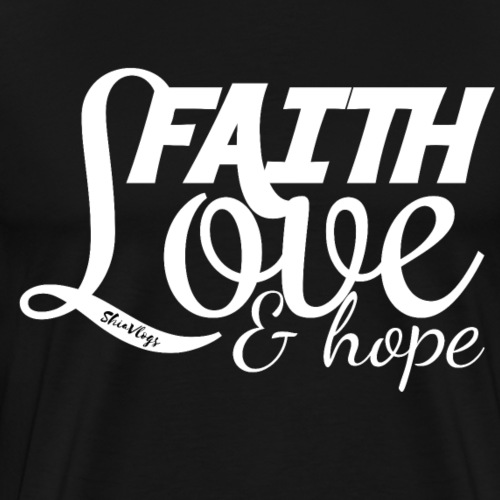 Faith Love & Hope - White - Men's Premium T-Shirt