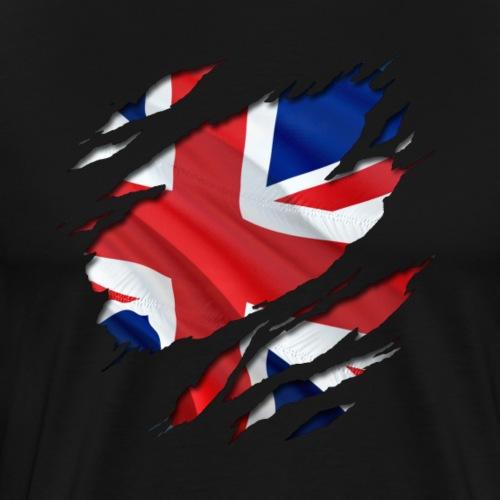 Den Union Jack unter dem Shirt! - Männer Premium T-Shirt