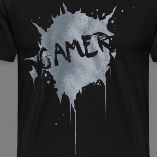 Gamer Splash (Silber) - Männer Premium T-Shirt