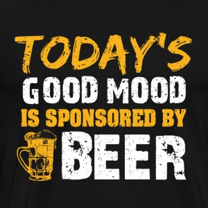Good mood by beer funny sayings - Men's Premium T-Shirt