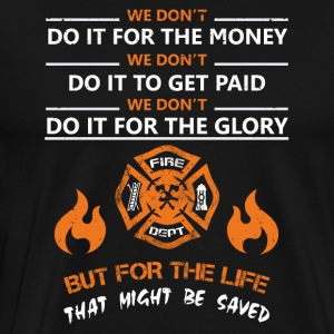 Lifeguard firefighter rescue service - Men's Premium T-Shirt