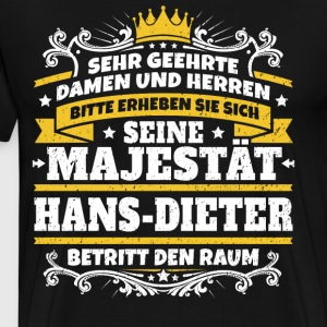 His Majesty Hans-Dieter - Men's Premium T-Shirt