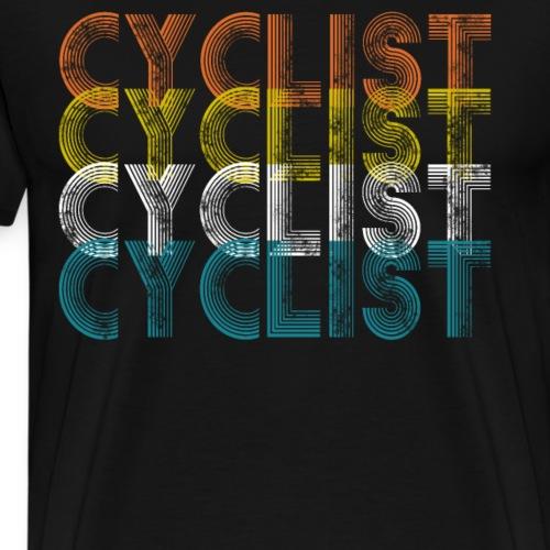 Retro Fahrrad Rad T-Shirt - Männer Premium T-Shirt